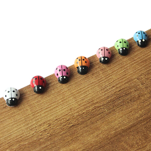 POP ITEM! 100Pcs Colorful Mini 3D Wall Stickers Home Decor Kid Toys DIY Ladybird Ladybug Christmas Gift 6LF8 3
