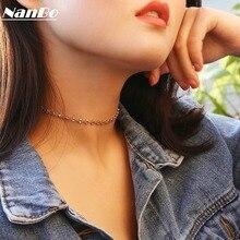 Initial Gold Choker Kolye Necklace Women Men Collier Femme Sweater Silver Chain Statement Necklaces Jewelry Bijoux Brincos 2019 цена и фото
