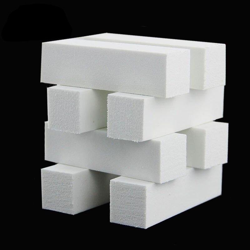 50pcs/set White Form Nail Buffers File For UV Gel Nail Polish Nail Art Tools Polishing Manicure Accessories