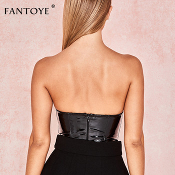 PU Leather Sexy Backless Playsuit  3