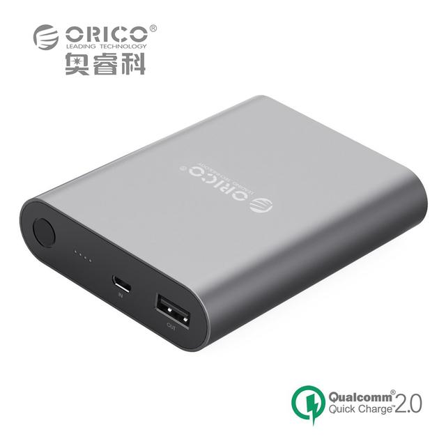 Qc2.0 10400ma banco do poder universal de alta capacidade portátil carregador rápido para apple iphone 6 plus 6 s etc (ORICO Q1)