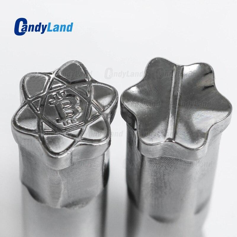 Штамп CandyLand BT для монет, молока в таблетках, 3D штамп, пресс-форма, штамп для конфет, штамп с пользовательским логотипом, штамп для кальция в та...