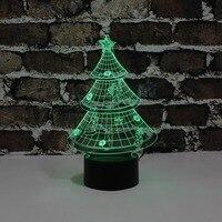 YJM-2823 Weihnachten Geschenke Weihnachten baum 3D LED Nacht Lichter Atmosphäre Festliche Lieferungen Beleuchtung Valentinstag Dekor
