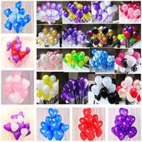 10 stücke 12 zoll 2,2g Schwarz Herz Perle Latex Ballon Helium Luft Ball Aufblasbare Hochzeit Dekoration Kinder Geburtstag Party liefert
