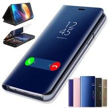 """Étui de miroir intelligent de placage de luxe pour Samsung Galaxy A20E 5.84 """"couverture arrière de téléphone de protection en cuir SamsungA20E Galaxy ya20e"""