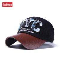 Unikevow Cotton NYC Baseball Cap 3D Letter Snapback Men Women Caps Hat Adjustable Summer Autumn Hat