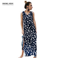 Refinement new summer hot fashion party sexy beach dresses women 2128 Lily pattern Hot clothing long maxi dress Vichy RV0220