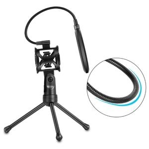 Image 4 - New Microphone Pop Filter Holder Stick Desktop Tripod Stand Anti Spray Net Kit PS 2