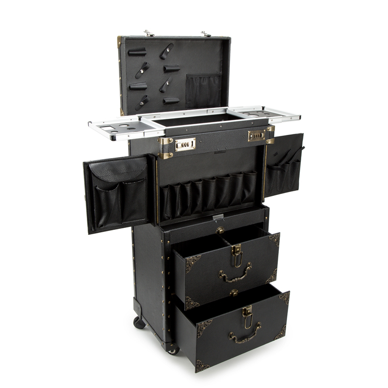 Cosmetic-Case Trolley Rolling-Luggage Suitcase-Capacity Custom Beauty-Tattoo Large Salons