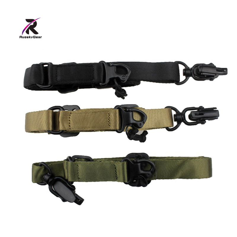 Adjustble Tactical 2-Point Rifle Gun Sling Strap Attachment Quick Release Buckle