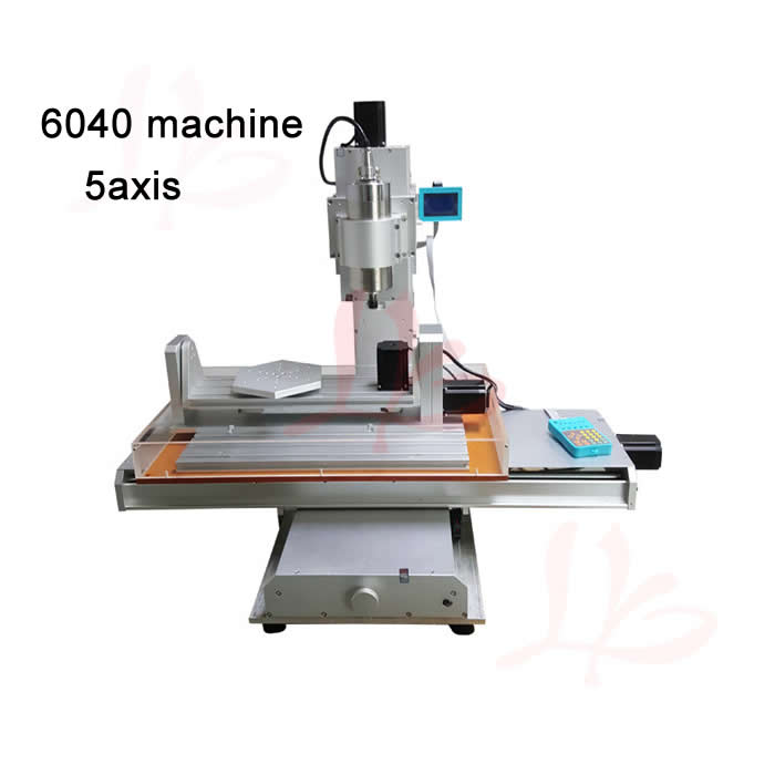 Pillar type cnc milling machine 6040 5axis cnc router with A axis B axis 1500w spindle work area 600x400x150mm