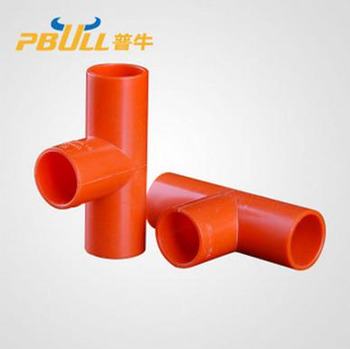 Pipe tee fitting PVC pipe line and blue line pipe ...