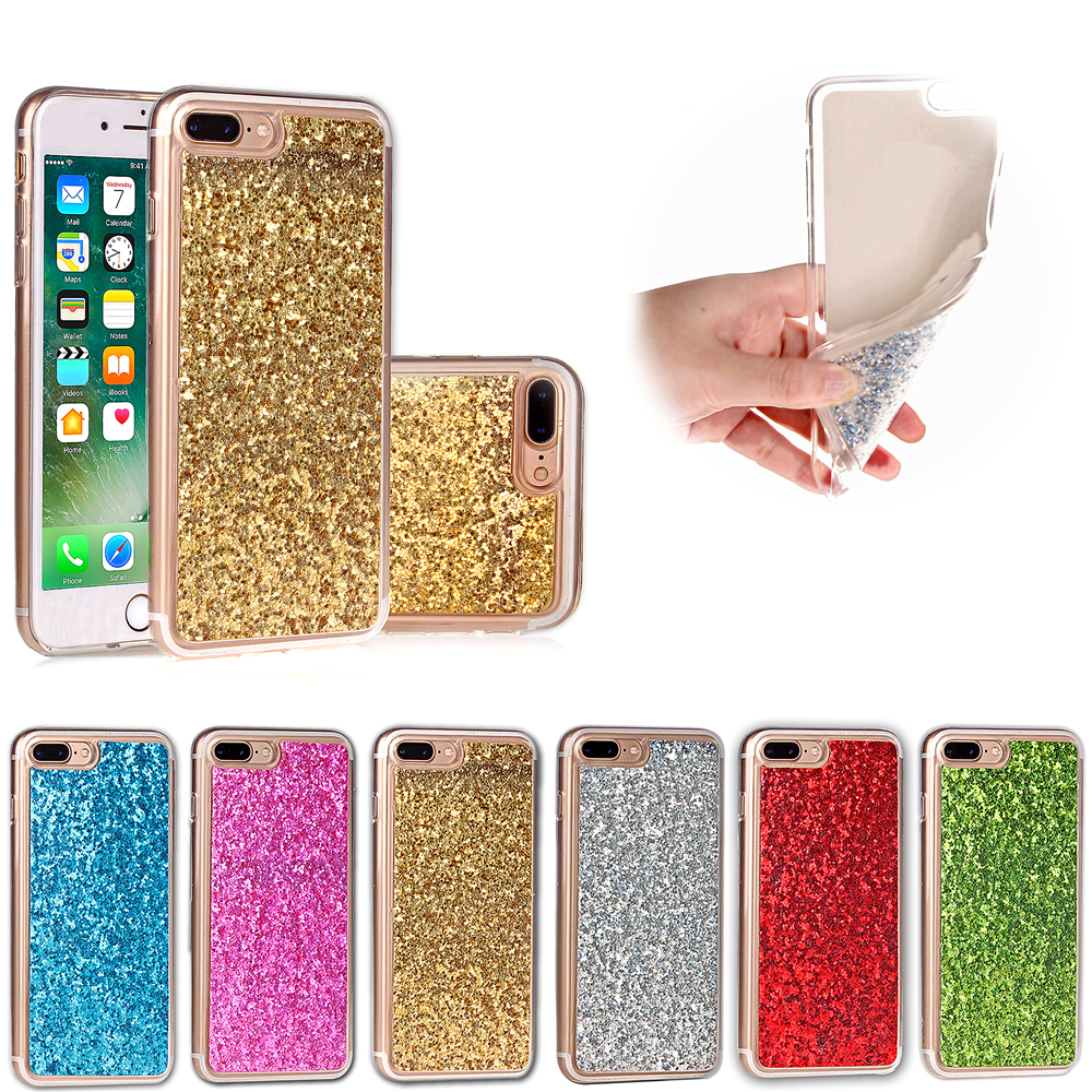 Luxury Glitter Phone Case For Apple iPhone 7/7 Plus Bling Soft TPU Silicone Back Cases Cover Coque Fundas For iphone7Plus