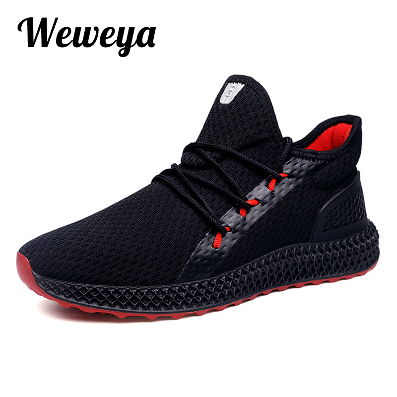 Weweya Male Shoes Adult Breathable Comfortable Sneakers Men Casual Shoes Fashion Men Shoes Lace up Men Sneakers zapatillas