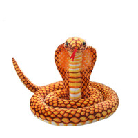 1 pc 200cm New arrival realistic cobra lifelike soft toy peluche stuffed snake giant snake plush toy for kids children