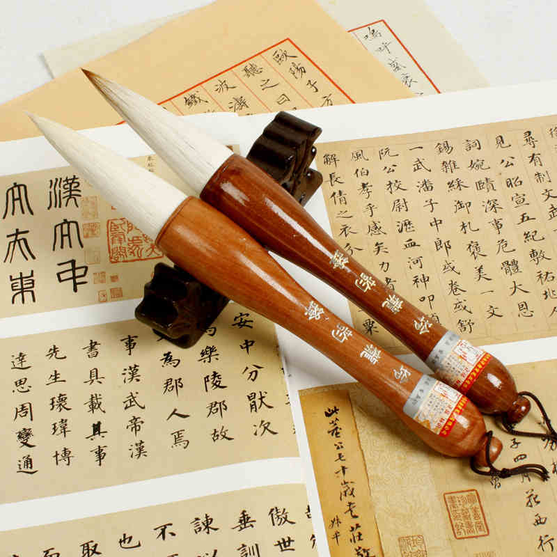 Excellent Quality Chinese Calligraphy Brushes Pen for Woolen and Weasel Hair Writing Brush Fit For Student School top grade high quality masters pen the fine quality goods of brushes boxed gift calligraphy brushes pen chinese brushes gift