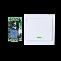 24v 1 Way Channel Remote Control Switch Wall Panel Wall Transmitter Remote Home Room Stairway Light