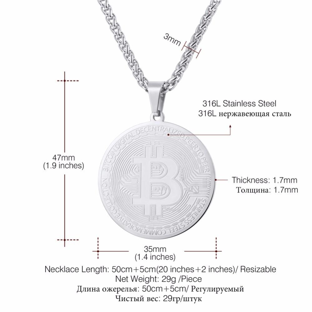 Steel/Gold/Black Bitcoin Pendant 2