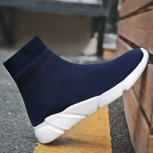 Image 5 - Breathable Men Casual Shoes Light Sneakers Men Sock Shoes Male High Top Sneakers Fashion Slip on Men Trainers Chaussure Homme