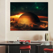 Wall Picture Home Decoration Artwork 1 Piece Universe Space Planet Painting Modern High Quality Canvas Printing Type Poster