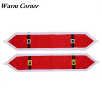 Warm Corner 2 Types High Quality Christmas Table Runner Dresser Tapestry Dining Restaurant Party Decor Gift