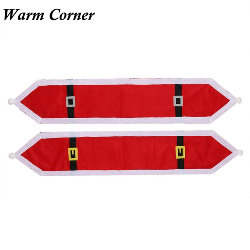 Warm Corner 2 Types High Quality Christmas Table Runner Dresser Tapestry Dining Restaura ...