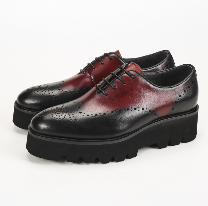 unique wine oxfords ᗚ formal formal platform shoes