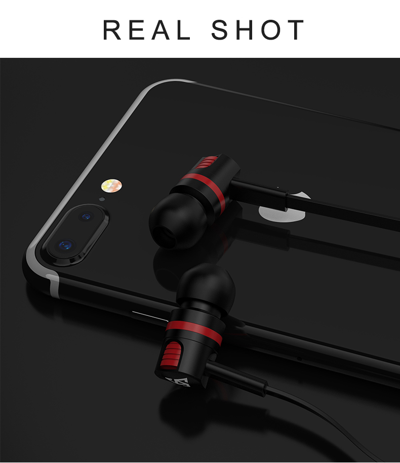 Wired 3.5 mm Noise Cancelling Earphone Handsfree In-Ear Earbuds Sport Running Gaming Headset With Mic For Phone Compputer Tablet