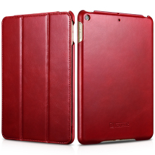 Newest Flip Cowhide Genuine Leather Case for Apple iPad mini5 Ultra-thin Business Foldable Stand Smart Cover 8