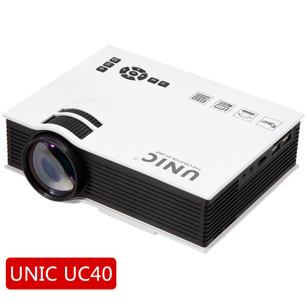 2015 new unic uc40 simplified micro projector led dlp for Micro video projector