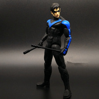 DC Collectibles Garage Kits Super Hero Justice League Superman VS Batman Nightwing Doll Model toy Collectible Action Figure