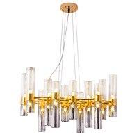 Nordic Творческий Bamboom G4 светодио дный люстра пластина серого цвета Стекло абажуры подвесной люстра Luminaria блеск люстры