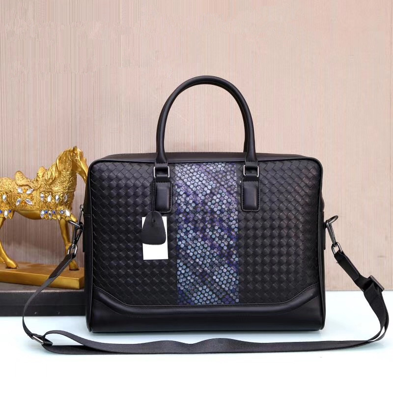 Kaisiludi Leather Men's And Women's Universal Handbag Knitting Briefcase Computer Bag Spray-painted Single-shoulder Bag