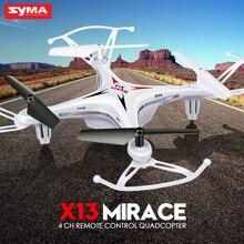 Drone Syma X13, 4 canais operando a 2.4 Ghz, 6 eixos com giroscópio, não possui câmera, tempo de carga menor que 70 minutos, para vôos indoor e outdoor de 5 minutos, controlável a aproximadamente 100 m de distância do operador