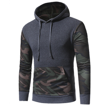 Brand 2018 Hoodie Camouflage Hit Color Hoodies Men Fashion Tracksuit Male Sweatshirt Hoody Mens Purpose Tour