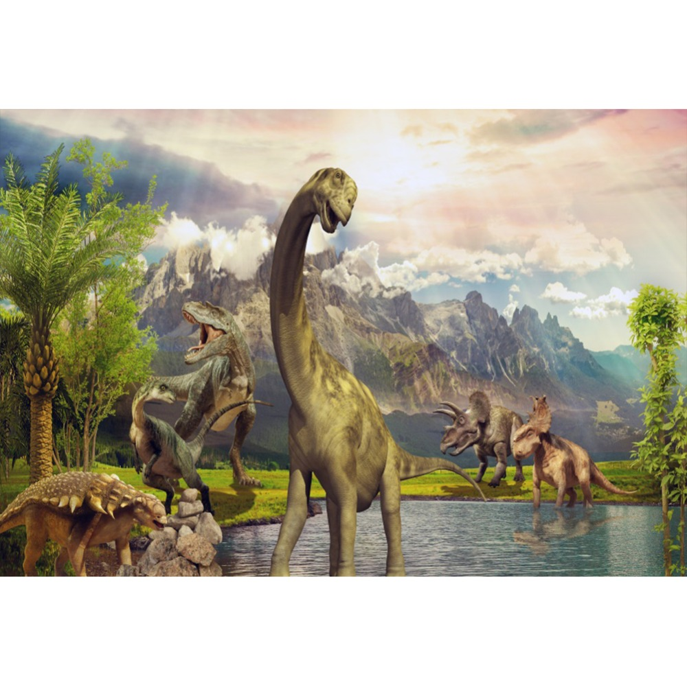 Laeacco Photo Background Jurassic World Party Dinosaur Jungle Mountain Baby Birthday Photography Backdrop photocall Photo Studio in Background from Consumer Electronics