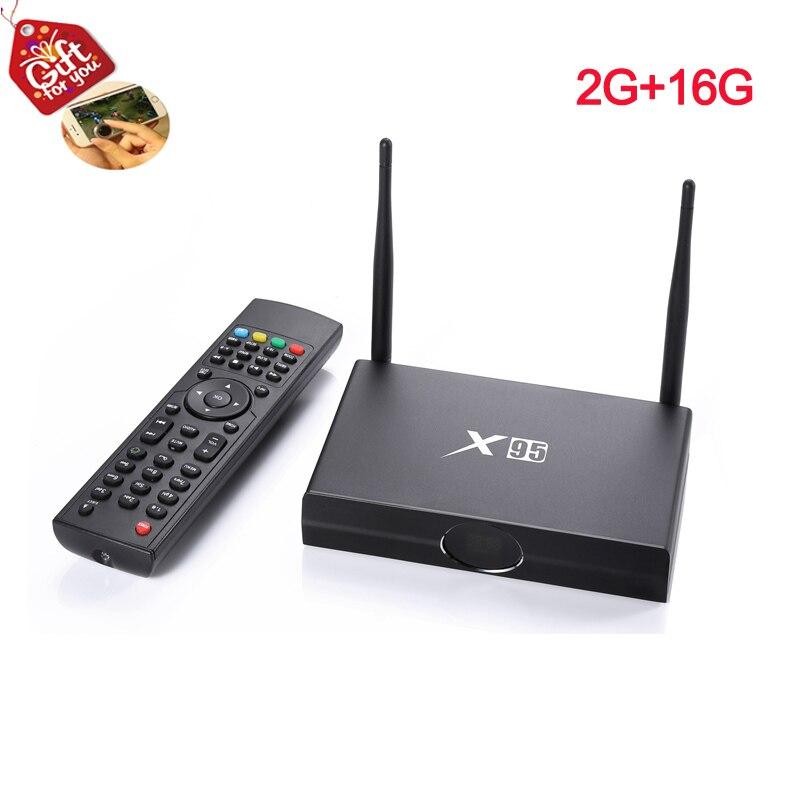 X95 Pro Smart Android TV Box Amlogic S905X Quad Core 2GB DDR3 Ram 16GB Rom 2