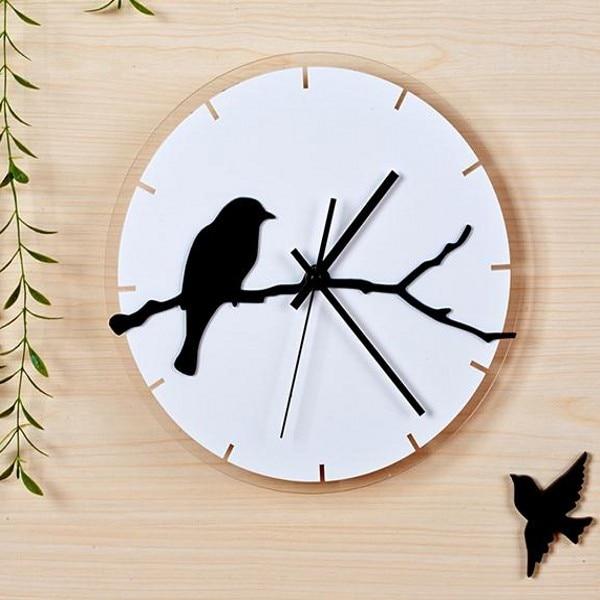artistic wall clocks  Simple Artistic Wall Clock Bird Quartz Clock Fashion Creative Modern ...