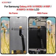 """עבור סמסונג גלקסי A10 LCD תצוגת מסך מגע Digitizer הרכבה 6.2 """"100% נבדק עבור Samsung A10 A105DS A105F A105FD a105A lcd"""