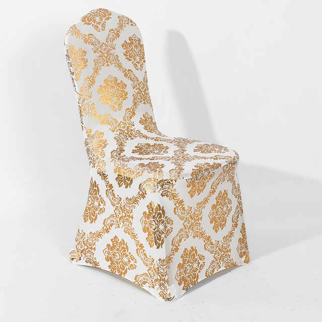 Enjoyable 8 Colours Gold Print Chair Cover Pattern Lycra Chair Cover For Wedding Party Decoration Cheap Price Spandex Fit All Chairs Andrewgaddart Wooden Chair Designs For Living Room Andrewgaddartcom