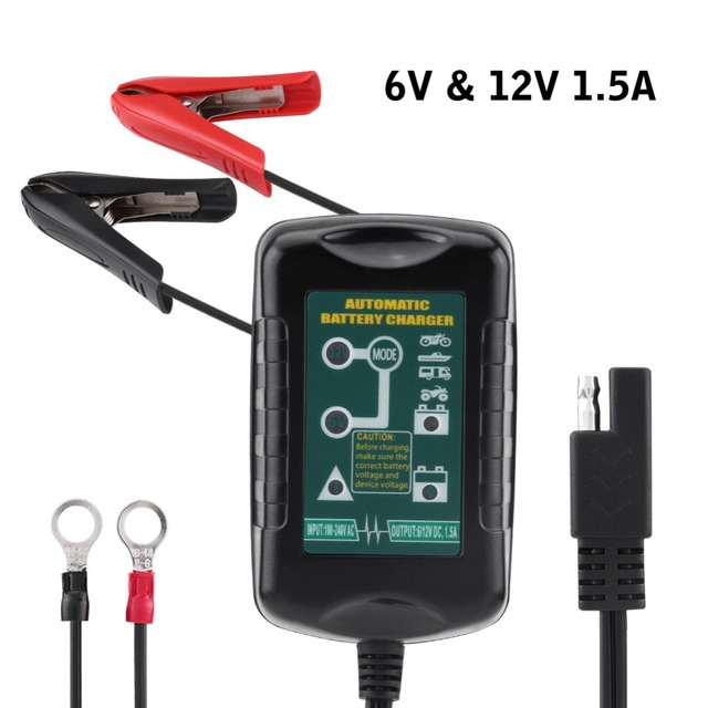 6V/12V 1.5A Intelligen Car Battery Charger Maintainer Charging for Automotive Vehicle Motorcycle RV Smart Battery Chargers