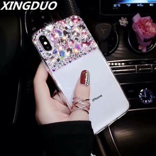 XINGDUO handmade case for Samsung galaxy S10 crystal Transparent shell S10Lite S8 S9 Plus Note 8 9 S7 Edge Soft TPU