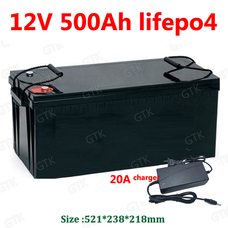 gtk waterproof 12v 500ah lifepo4 battery lithium bms 4s 12. Black Bedroom Furniture Sets. Home Design Ideas