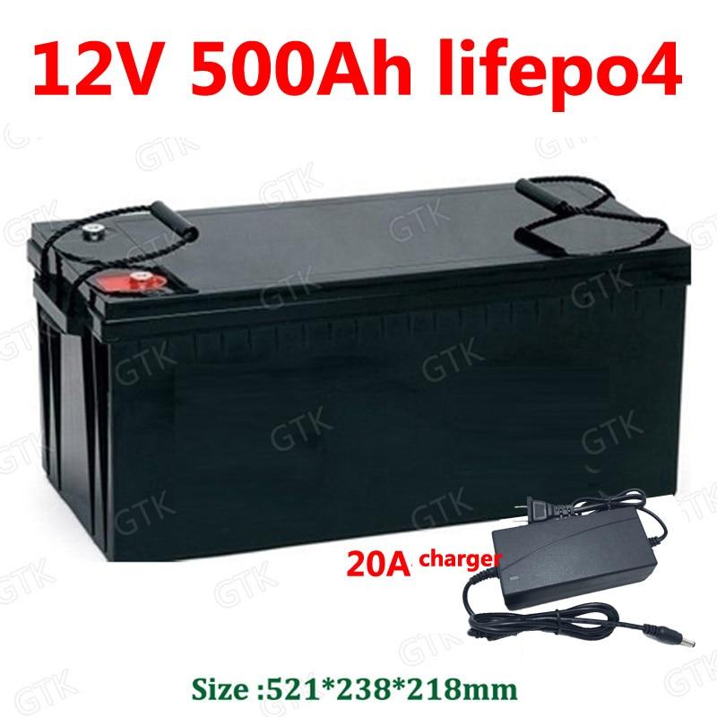 gtk waterproof 12v 500ah lifepo4 battery lithium bms 4s 12. Black Bedroom Furniture Sets. Home Design Ideas