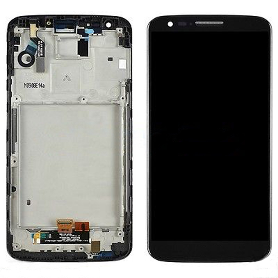 +Frame BLACK LCD Display + Touch Screen Digitizer Assembly Replacement For LG Optimus G2 D802 D805 Free Shipping