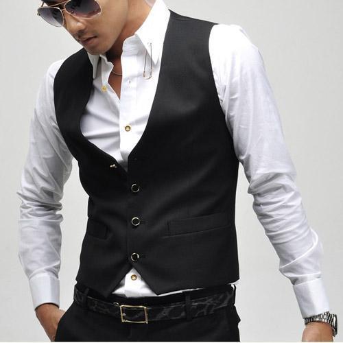 Homens Terno Colete Vestido Formal do Negócio Blazer Terno Colete Chaleco Hombre plus Size XXXL XXXXL Preto Moda Gilet Homme Dos Homens Terno Colete
