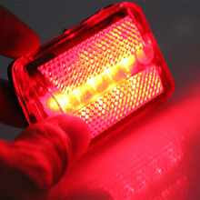 цена на New 5 LED Rear Tail Red Bike Bicycle Back Light Cycling Accessories LMH66