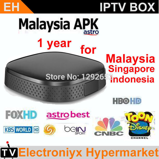 US $240 58  2pcs/lot Smart android IPTV Singapore Malaysia astro live tv  box 1 year Apk watch football VOD 190+ chnl better than Aston X8 M8-in