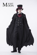 MOONIGHT 2017 Gothic Vampire Costume Costume Vampire Costume Men Masquerade Party Halloween Cosplay Stage Costume