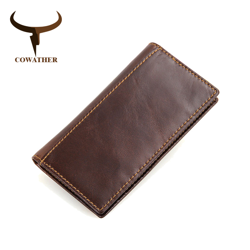 COWATHER 2017 cross 100% genuine cow leather short mens wallet for men vintage good male purse  free shipping hotpoint ariston bcb 33 a